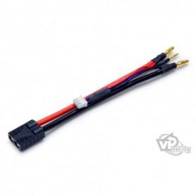 Vapex VP2STR Kabelset, Traxxas, för Li-Po ack, med 2 st 3.5 mm och 1 st ladd 2 mm guldpläterade kontakter