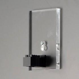 TrainSafe MWH-H03L-1E Vägghållare i akryl för förlängning, höjd 12,5 cm