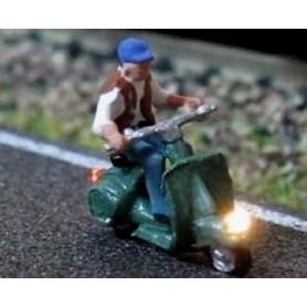 "Bicyc Led 878111 Moped med belysning ""Äldre herre"""