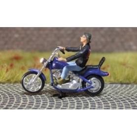 """Bicyc Led 878603 Motorcykel med belysning """"Tjej som är ute och glider"""""""