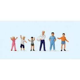 Preiser 14120 Lekande barn, 6 st