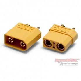 Dynomax B9566 Kontakt med hus XT90, 4.5 mm, 1 par