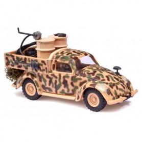 """Busch 42704 VW Bubbla """"110 Infateridivisionen"""" med last av oljetunnor"""