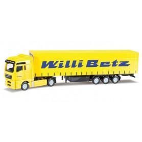 "Herpa 066082 MAN TGX XXL curtain canvas semitrailer ""Willi Betz"""