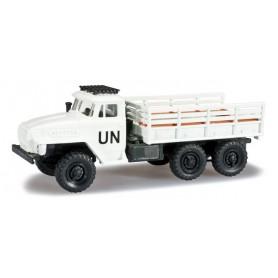"""Herpa 744539 Ural team flatbed truck """"UN"""""""