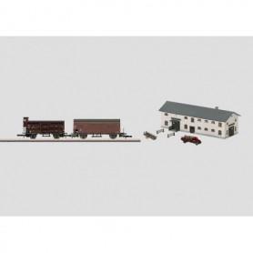 Märklin 89791 Vagnsset med 2 st djurvagnar typ DB, slakthus och lastramp