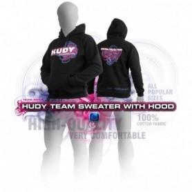 """Hudy 285501M Hoodtröja """"Hudy"""" Teamwear, svart"""