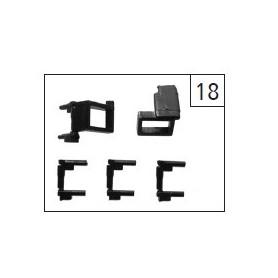 Roco 107158 Fotsteg, gråa, passande för bl.a. Rocos Rc6