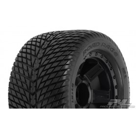 "Pro-Line 1177.11 Däck, färdiglimmade, Road Rage 3.8"" Tires Mounted on Desperado Black 1/2 Offset 17mm Wheels for 17mm MT Hex,..."