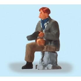 Preiser 29096 Sittande enbent herre, 1 figur