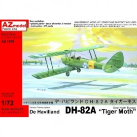"AZ 7409 Flygplan De Havilland D82A ""Tiger Moth"" Over North Europe, med svenska dekaler"