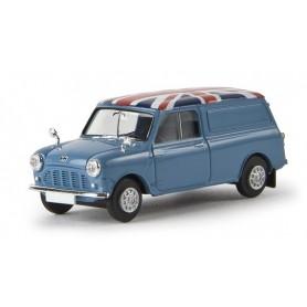 """Brekina 15361 Austin Mini Van """"Union Jack"""", ljusblå (GB), TD"""