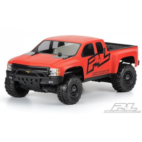 Pro-Line 3385.00 Kaross Chevy Silverado HD Clear Body for 2WD/4x4 Slash, SC10 (with Pro-Line Extended Body Mounts, sold separ...