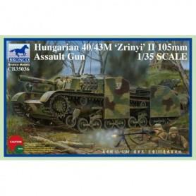 """Bronco 35036 Hungarian 40/43M """"Zrinyi"""" II 105mm Assault Gun"""