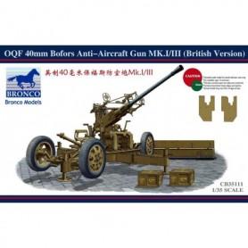 Bronco 35111 OQF 40mm Bofors Anti-Aircraft Gun MK.I/III (British Version)