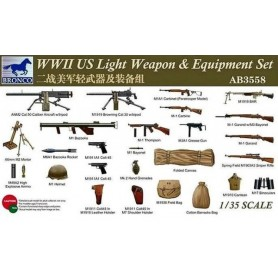 Bronco 3558 WWII US Light Weapon & Equipment Set