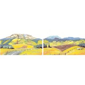 MZZ 2011/12 Landskapsmotiv, 2 st olika motiv, mått 23 x 13 cm