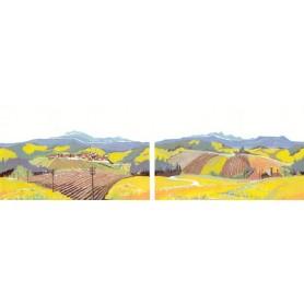 MZZ 2015/16 Landskapsmotiv, 2 st olika motiv, mått 23 x 13 cm
