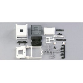 Herpa 080811 Scania conventional Topline driver's cabin with side skirting (incl. rear-view mirror) Content: 2 pcs.
