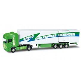 "Herpa 066129 Scania R TL box semitrailer ""Zingg"" (CH)"