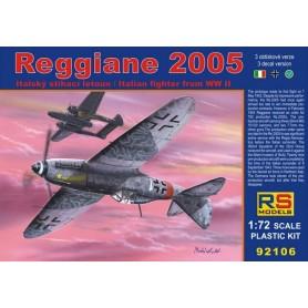 RS Models 92106 Flygplan Reggiane 2005, med svenska dekaler