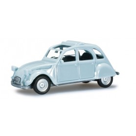 Herpa 020824.4 Citroen 2 CV with folding top open, light blue