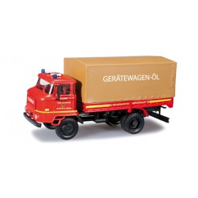 "Herpa 091046 IFA L 60 truck with canvas ""Neustadt/Coburg fire department"""