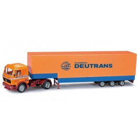"Herpa 303118 Mercedes Benz volume semitrailer ""Deutrans"""