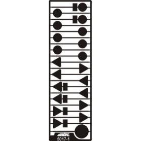 Entec 5017-1 Vägmärkesskyltar i plåt (21st)