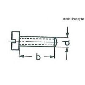 Märklin 750180 Cylinderskruv M2x2,8 mm, skalle 5 mm, svart