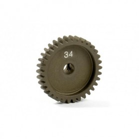 XRay 305934 Narrow Pinion Gear Alu Hard Coated 34t/48p, 1 st