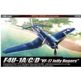 """Academy 12293 Flygplan F4U-1A/C/D """"VF-17 Jolly Rogers"""""""
