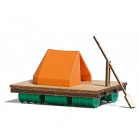 Busch 1564 Flotte i trä med tält