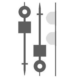 Entec 5022-2B Vägsignal ( i plankors) 2st