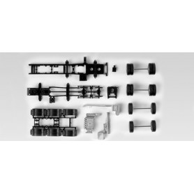 Herpa 083157 chassis for heavy load tractor MAN TGX 680 4-axle Content: 2 pcs