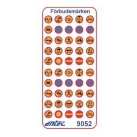 Entec 9052 Vägmärken - Förbudsmärken