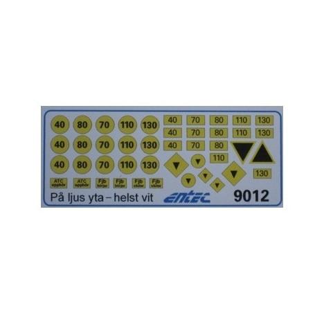 Entec 9012 Skyltdekaler (K)