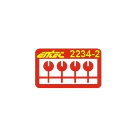 Entec 2234-2B A-ändesskärmar, 1 par, byggsats