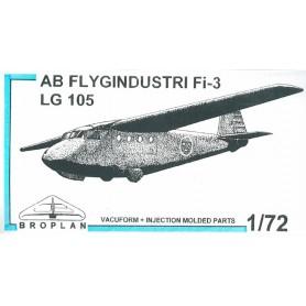Broplan MS46 Flygplan AB Flygindustri Fi-3 LG 105