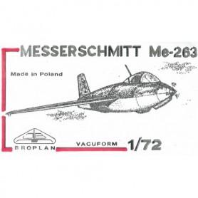 Broplan MS09 Flygplan Messerschmitt Me263