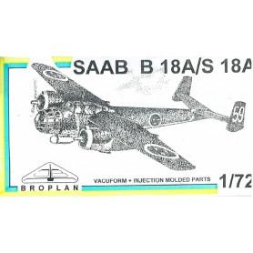 Broplan MS33 Flygplan SAAB B18A/S 18A