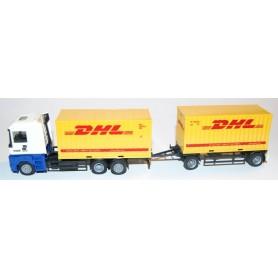 "AHM AH-028 Renault AE Bil & Släp med containers ""Lulefrakt"" & ""DHL"""