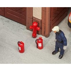 Faller 180950 6 Extinguishers and 2 hydrants