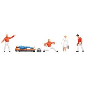 Faller 151095 Ambulansvårdare, 5 st med en bår