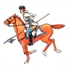 "Prince August 53 Battle of Rossbach Prussian ""Uhlan de Natzmer"""