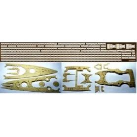 Academy 45002 Extra trädäck för Bismarck och Tirpitz i skala 1:350, passar för bl.a. 14109