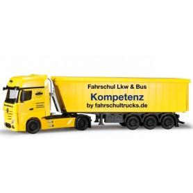 """Herpa 303286 Mercedes Benz Actros Gigaspace stöffel-liner semitrailer """"Fahrschultrucks.de"""""""