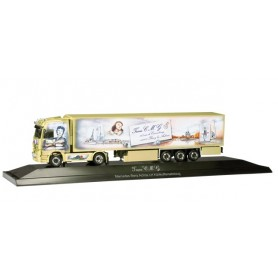 "Herpa 121514 Mercedes Benz Actros LH refrigerated box trailer ""Edith & Marcel"" (F) PC-Box"