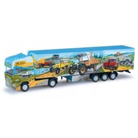 "Herpa 066167 Scania R TL box semitrailer ""Herpa Weltgeschichte Nr. 8"""