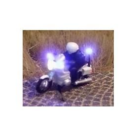 """Bicyc Led 168851DK Motorcykel med belysning """"Dansk Polis"""""""